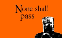 None shall pass orange