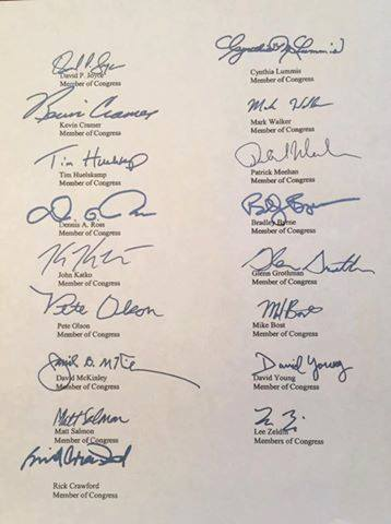 Tom Reed Letter Signatures 04042016
