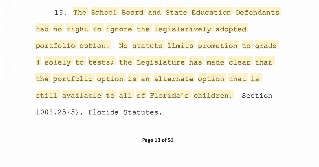 Alternative Assessments THE OPT OUT FLORIDA NETWORK